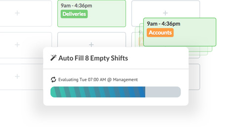 Create AI optimised schedules with a single click