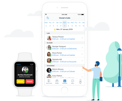 Manage your schedule from any location