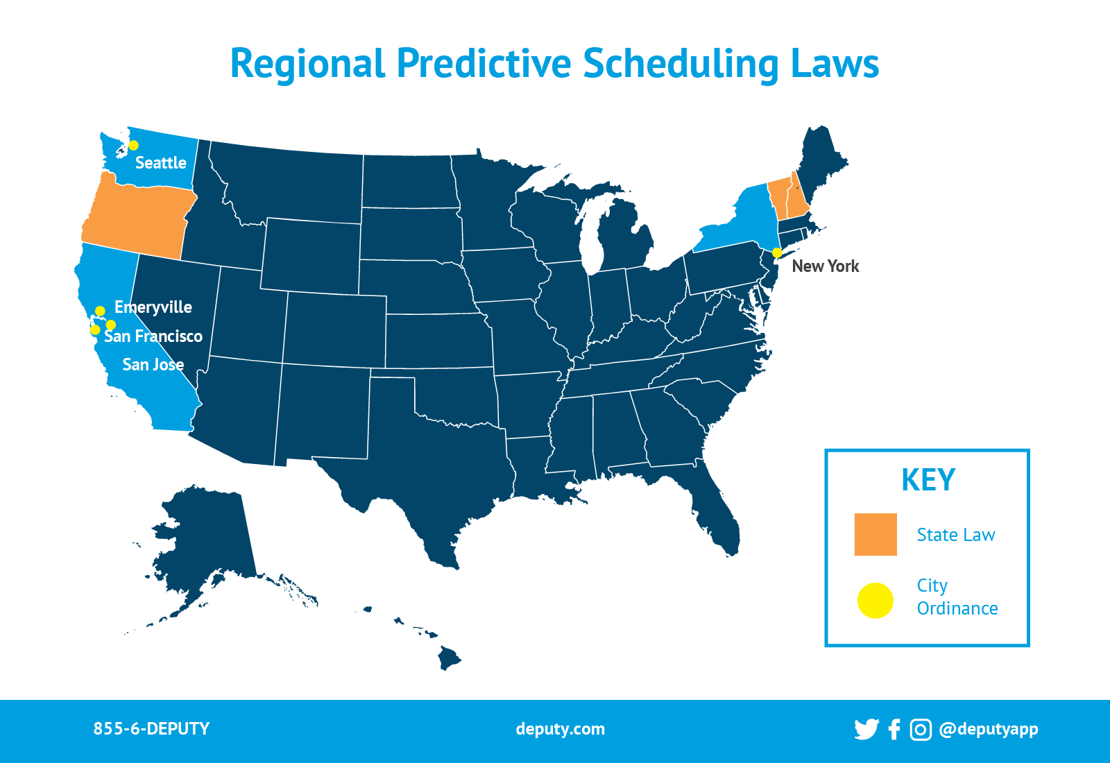 Regional Predictive Scheduling laws infographic-Deputy