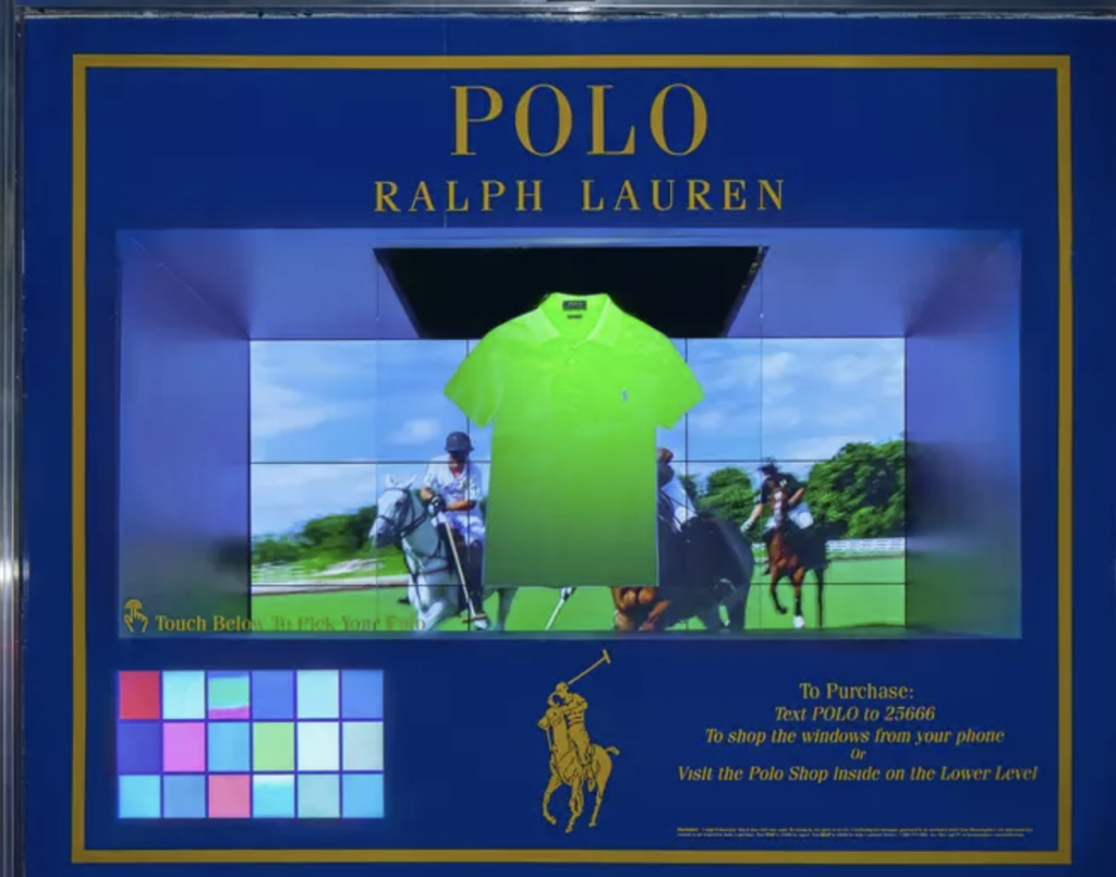 Ralph Lauren-interactive display
