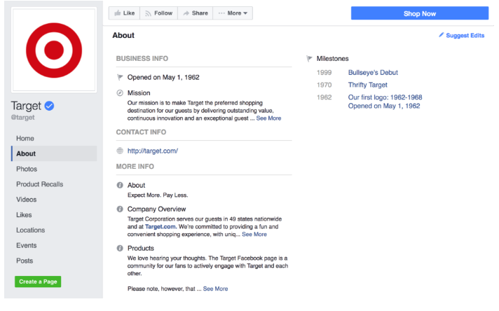 choosing the right fb page template for your smb deputy
