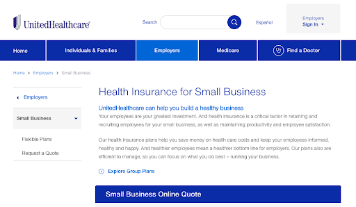 6 Best Health Insurance Providers for Small Businesses-United Healthcare