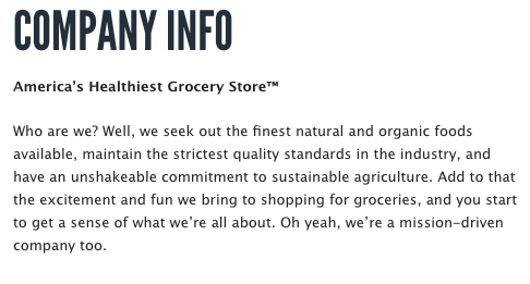 Whole Foods company description